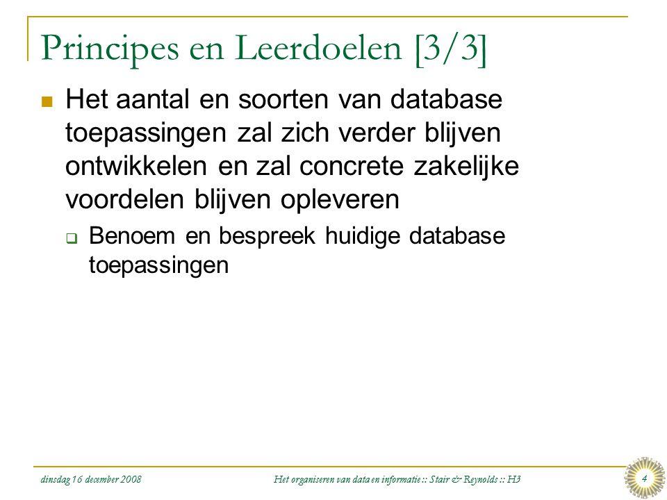Principes en Leerdoelen [3/3]
